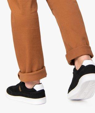 Tennis homme suédées à lacets style skateshoes vue1 - GEMO (SPORTSWR) - GEMO