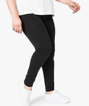 Legging uni en coton stretch vue1 - GEMO (G TAILLE) - GEMO