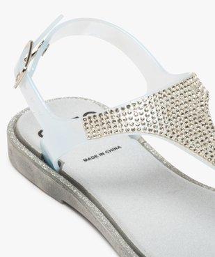 Sandales filles avec entre-doigt et strass sur le dessus vue6 - GEMO (ENFANT) - GEMO