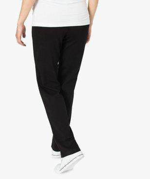 Pantalon de grossesse droit en jersey avec lien à la taille vue3 - GEMO C4G MATERN - GEMO