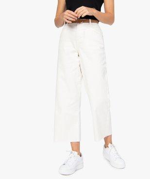 Pantalon femme coupe ample avec ceinture amovible vue1 - GEMO(FEMME PAP) - GEMO
