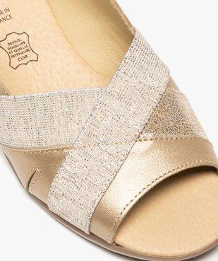 Sandales femme confort en cuir avec détails brillants vue6 - GEMO (CONFORT) - GEMO