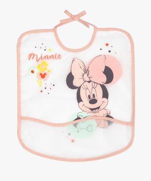 Bavoir bébé plastifié à poche imprimé Minnie - Disney vue1 - MINNIE - GEMO
