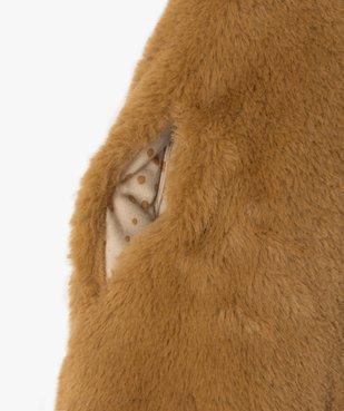Cape bébé fille en maille peluche vue3 - GEMO(BEBE DEBT) - GEMO