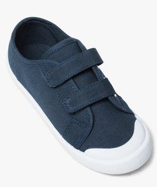 Chaussures basses garçon en toile unie fermeture scratch vue5 - GEMO (ENFANT) - GEMO