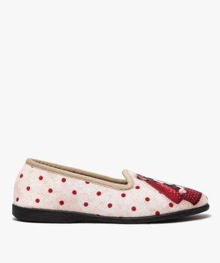 Chaussons femme slippers en velours imprimé bouledogue vue1 - GEMO(HOMWR FEM) - GEMO