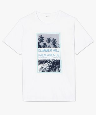 Tee-shirt homme à manches courtes avec motifs palmiers vue4 - GEMO (HOMME) - GEMO