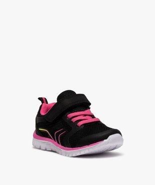 Baskets fille bicolores à lacets élastiques et scratch vue2 - GEMO (ENFANT) - GEMO