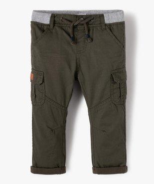Pantalon bébé garçon coupe battle à revers et taille élastiquée vue1 - GEMO(BEBE DEBT) - GEMO