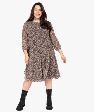 Robe femme imprimée fermeture boutonnée vue1 - GEMO (G TAILLE) - GEMO