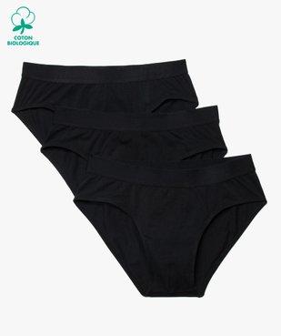 Slip homme en coton stretch uni à ceinture élastique (lot de 3) vue1 - Nikesneakers C4G HOMME - Nikesneakers