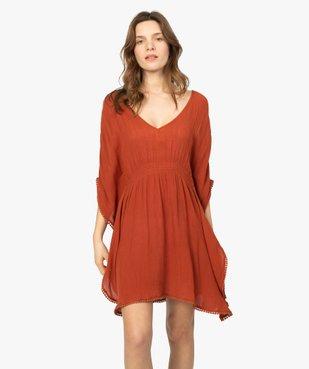 Robe de plage femme avec large décolleté vue1 - GEMO (PLAGE) - GEMO