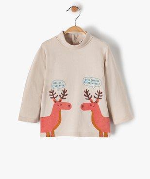 Tee-shirt bébé garçon imprimé à col roulé vue1 - GEMO C4G BEBE - GEMO