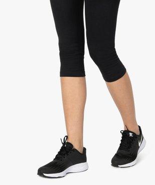 Legging femme court en coton stretch vue2 - GEMO(FEMME PAP) - GEMO
