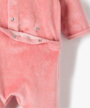 Pyjama bébé fille en velours avec inscription sur le buste vue4 - Nikesneakers(BB COUCHE) - Nikesneakers