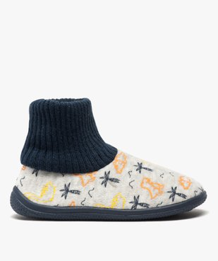 Chaussons garçon boots en velours et col chaussette vue1 - Nikesneakers C4G GARCON - Nikesneakers