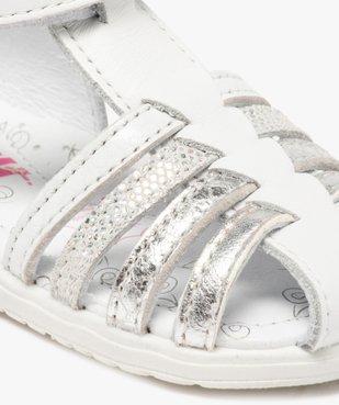 Sandales bébé fille en cuir avec brides métallisées - Bopy vue6 - BOPY - GEMO