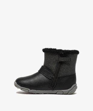 Boots bébé fille zippées fourrées sherpa – Geox vue3 - GEOX - GEMO