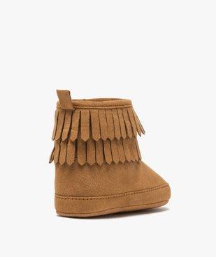 Chaussons bébé fille unis style boots à franges vue4 - GEMO C4G BEBE - GEMO