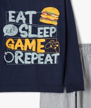 Pyjama garçon bicolore spécial gamer vue2 - GEMO (JUNIOR) - GEMO