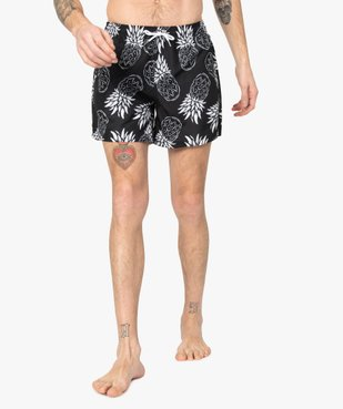 Short de bain homme motif ananas vue1 - GEMO (PLAGE) - GEMO