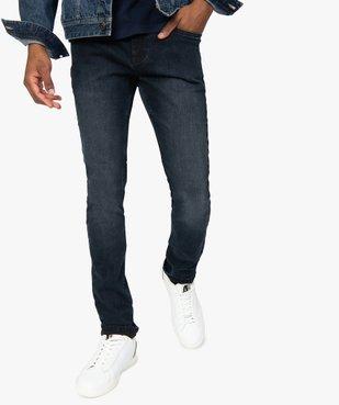 Jean homme skinny délavé avec plis sur les hanches vue1 - Nikesneakers (HOMME) - Nikesneakers