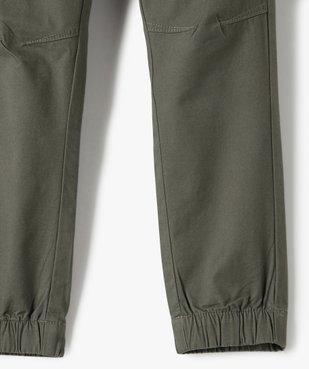 Pantalon garçon avec taille et chevilles élastiquées vue4 - GEMO (ENFANT) - GEMO