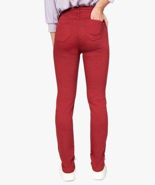 Pantalon femme coupe slim en toile extensible vue3 - GEMO(FEMME PAP) - GEMO