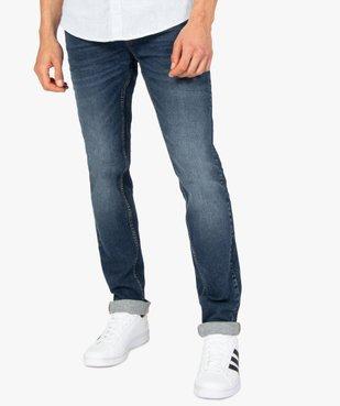 Jean homme coupe Slim délavé plissé sur les cuisses vue1 - Nikesneakers C4G HOMME - Nikesneakers