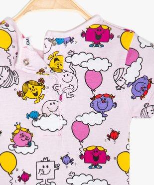 Tee-shirt bébé fille imprimé - Monsieur Madame vue2 - MONSIEUR MADAME - GEMO