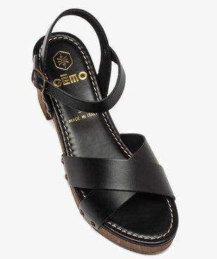 Sandales femme unies à talon imitation bois vue5 - GEMO(URBAIN) - GEMO