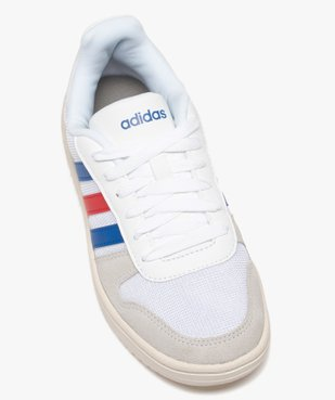 Tennis femme tricolores à lacets – Adidas Hoops 2.0 vue5 - ADIDAS - Nikesneakers