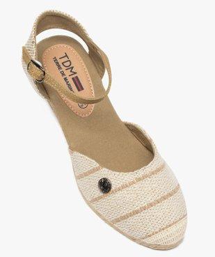 Sandales femme en toile à talon compensé – Terre de Marins vue5 - TERRE DE MARINS - GEMO