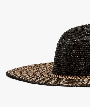 Chapeau de paille femme à larges bords et paillettes vue2 - GEMO (ACCESS) - GEMO