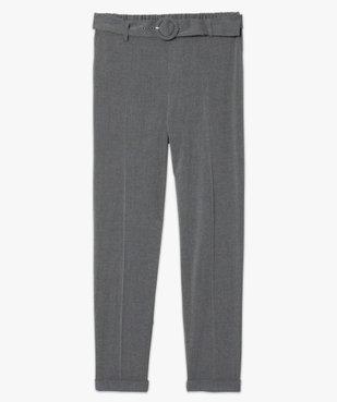 Pantalon femme chiné à ceinture et revers vue4 - GEMO(FEMME PAP) - GEMO
