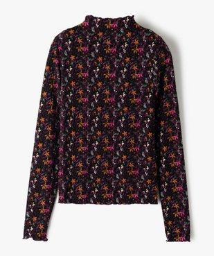 Tee-shirt fille à manches longues avec col montant  vue2 - GEMO (JUNIOR) - GEMO