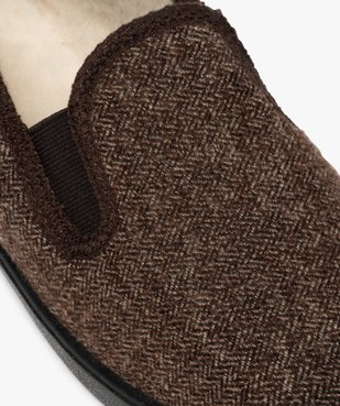 Chaussons homme dessus en tissu à chevrons vue6 - THERITEX - Nikesneakers
