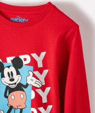 Tee-shirt garçon à manches longues avec motif Mickey - Disney vue3 - DISNEY DTR - GEMO