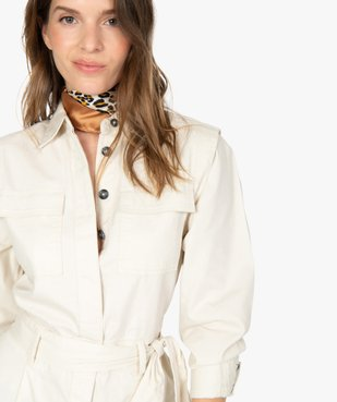Combishort femme à boutons et ceinture vue3 - GEMO - GEMO