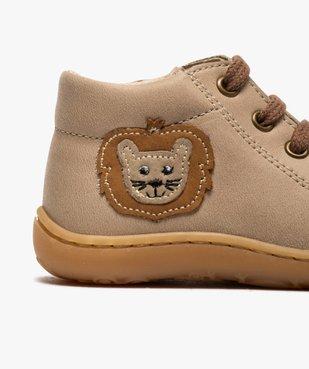 Bottines premiers pas bébé garçon en cuir avec décor lion vue6 - Nikesneakers(BEBE DEBT) - Nikesneakers