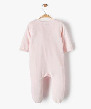 Pyjama bébé fille en velours à motif renard vue5 - GEMO C4G BEBE - GEMO