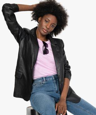Veste femme coupe blazer en matière synthétique vue1 - GEMO(FEMME PAP) - GEMO