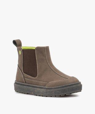 Boots bébé garçon à surpiqûres contrastées – Gepy vue2 - FRIENDLY GEPY - GEMO