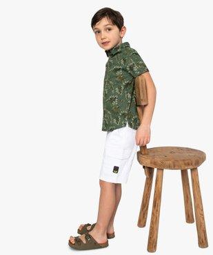 Chemise garçon à motifs tropicaux et manches courtes vue6 - GEMO (ENFANT) - GEMO