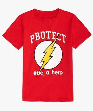 Tee-shirt garçon imprimé Flash - DC Comics vue1 - DC COMICS - GEMO