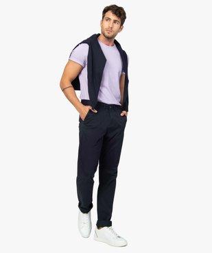 Tee-shirt homme à manches courtes et col rond vue6 - GEMO (HOMME) - GEMO