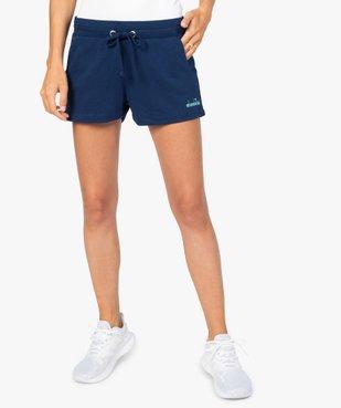 Short de sport femme en maille extensible - Diadora vue1 - DIADORA - GEMO