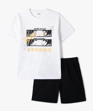 Pyjashort garçon bicolore avec motif manga vue1 - GEMO (JUNIOR) - GEMO