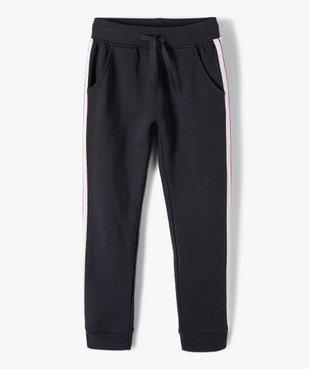 Pantalon de jogging fille avec bande pailletée sur les côtés vue1 - GEMO (ENFANT) - GEMO
