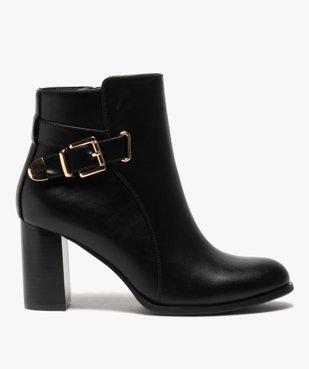 Boots femme unis à talon carré et bride fantaisie vue1 - GEMO(URBAIN) - GEMO